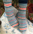 regia socks with cable detail